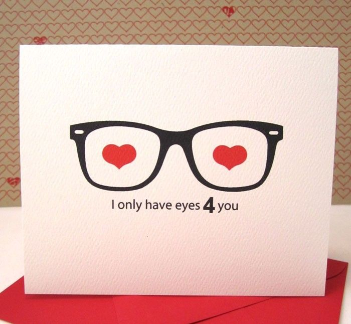 i only have eyes for you valentines day card – Easy Handmade Valentine Cards