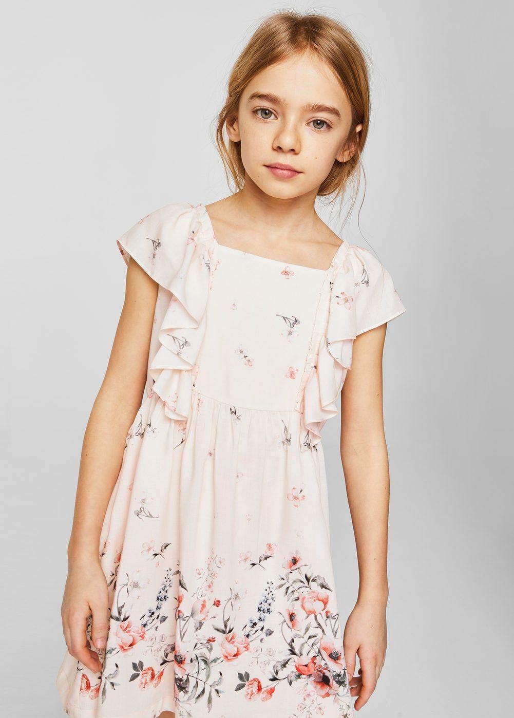 57521264f Vestido floral volantes - Niña | baby | Vestidos para niñas ...