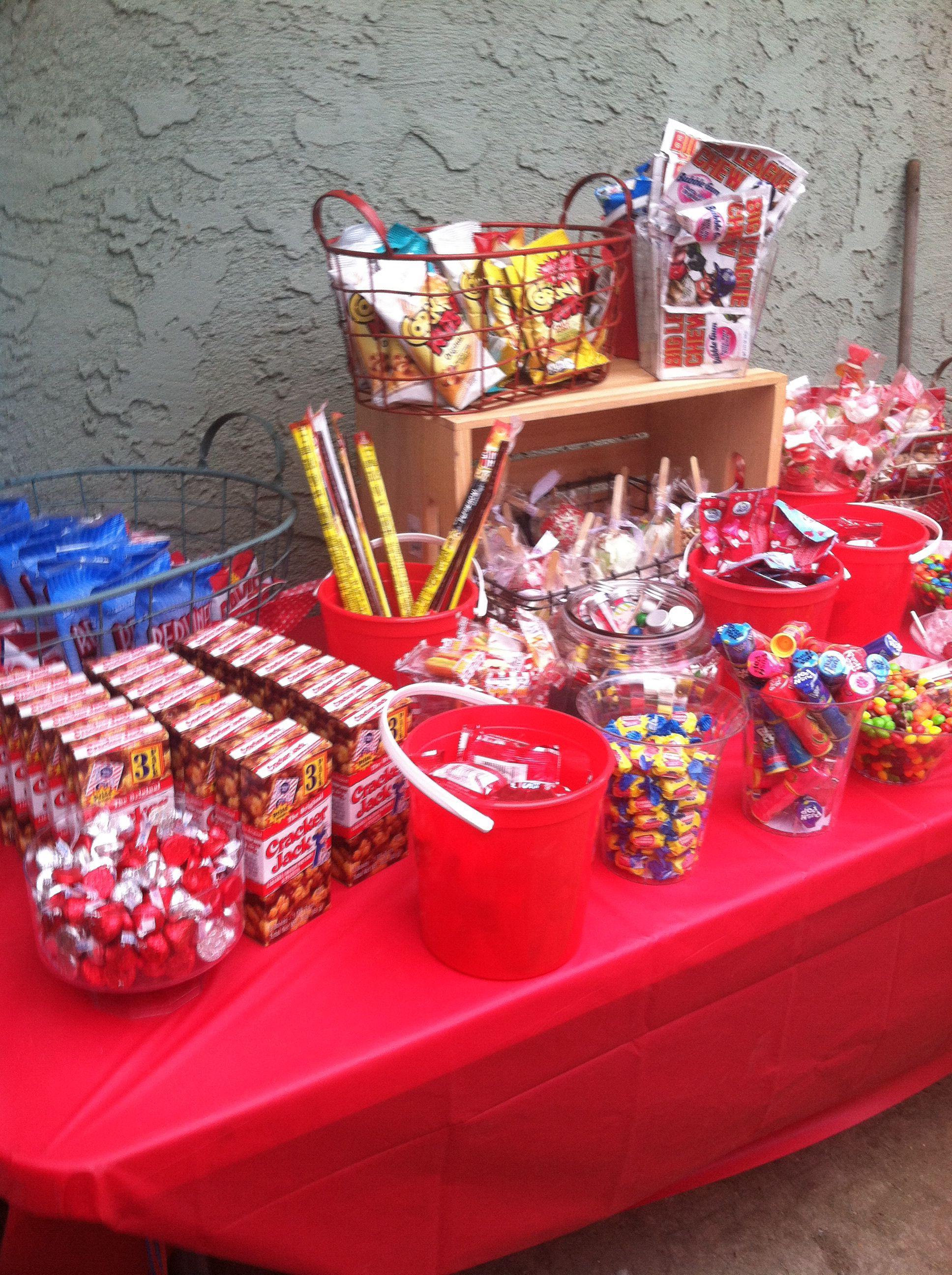 Baseball Candy Buffet