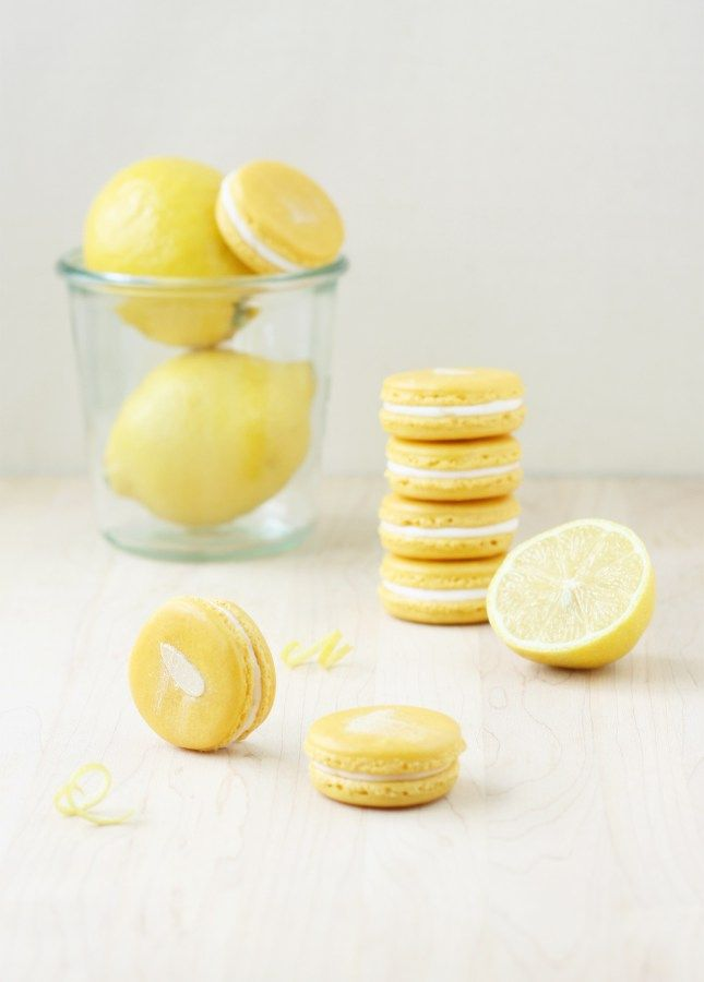 Lemon Mascarpone French Macarons: The ultimate treat for lemon lovers! // FoodNouveau.com