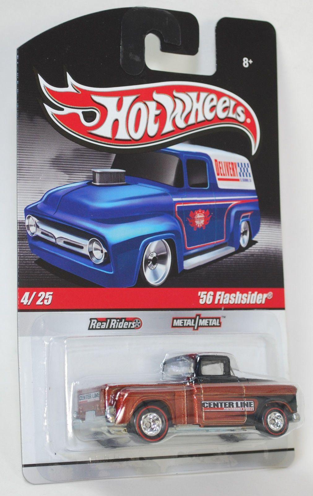 Hot Wheels Delivery Slick Rides Custom 56 Flashsider REAL RIDERS 1:64