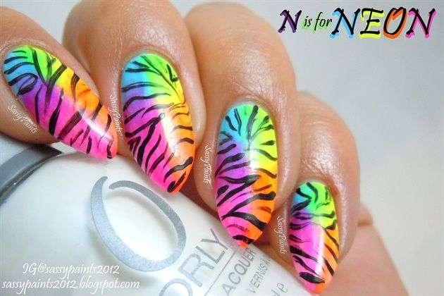 Pin on Neon Nail Art