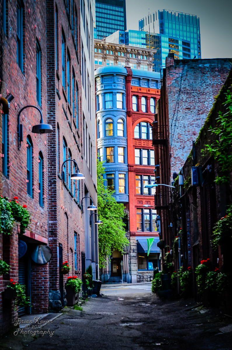 Pioneer Building Through the Alley