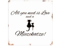 20x20CM ALL YOU NEED IS LOVE AND A MIEZEKATZE