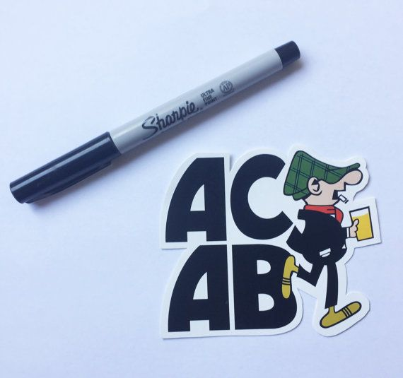 A c a b andy capp hooligan sticker custom stickersetsy