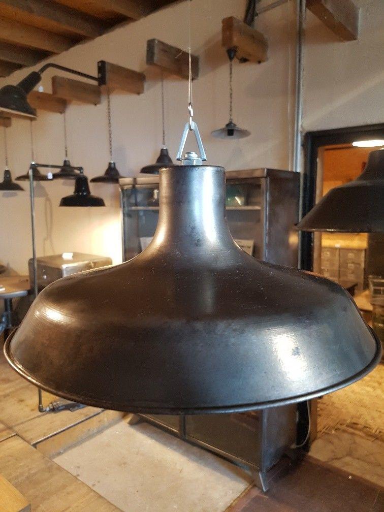 ANCIEN LAMPE SUSPENSION ABAT JOUR CUIVRE DESIGN INDUSTRIEL MÉTAL USINE LOFT BAR