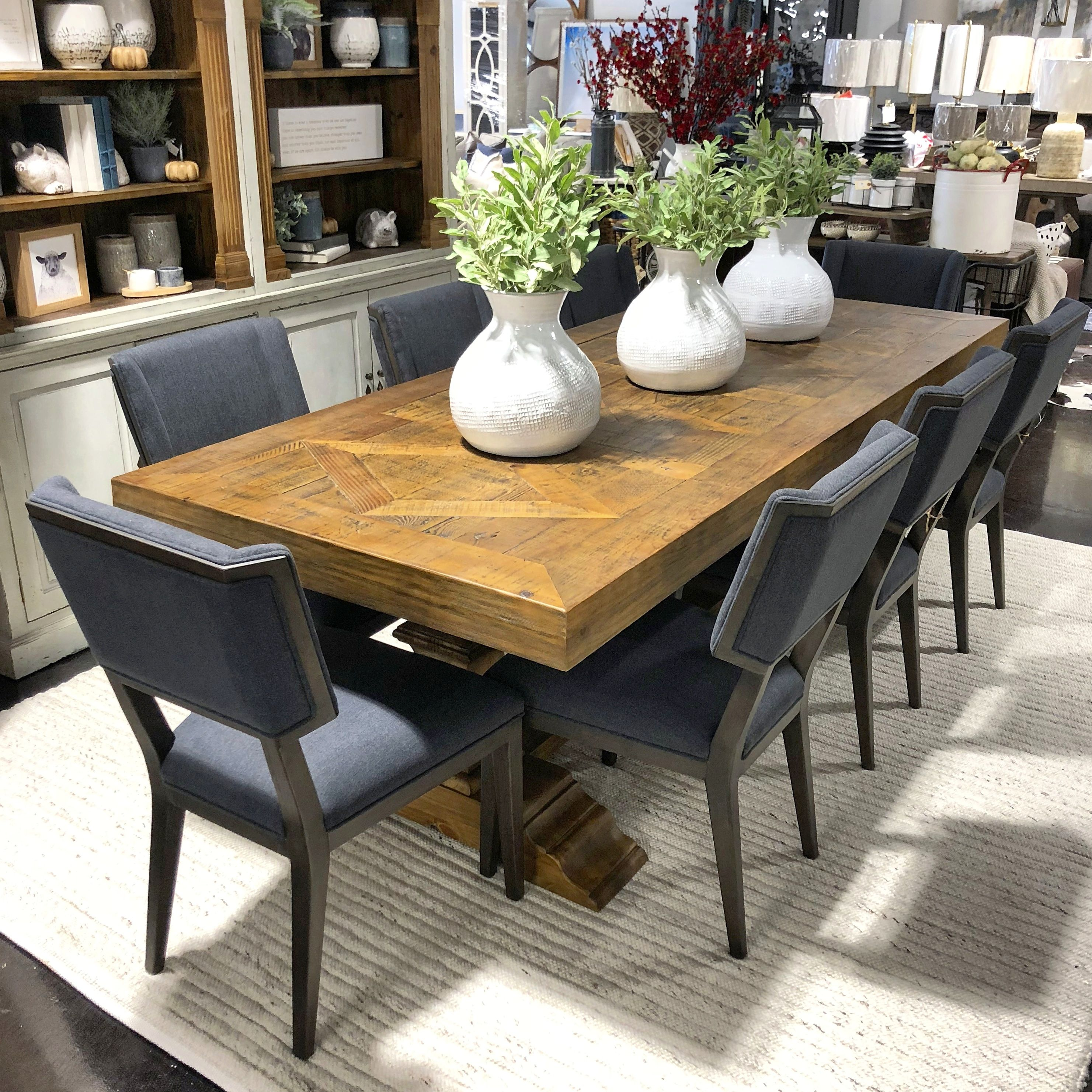 Beautiful From Every Angle The Carnegie Dining Table Is Stealing The Show Over At Warehouse 2 We Paired It With The Gat Dining Table Table Dining Inspiration