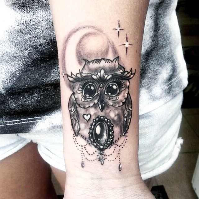 Little owl @milky_tattoodles on instagram
