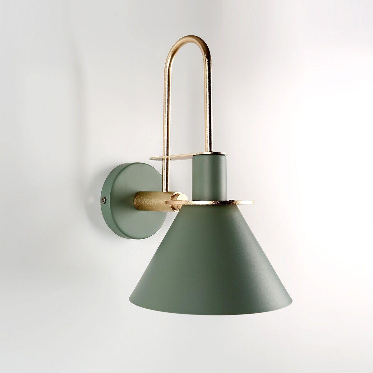 Oklak Green Light Fixture On Wall Wall Mounted Lamps Wall Lights Light