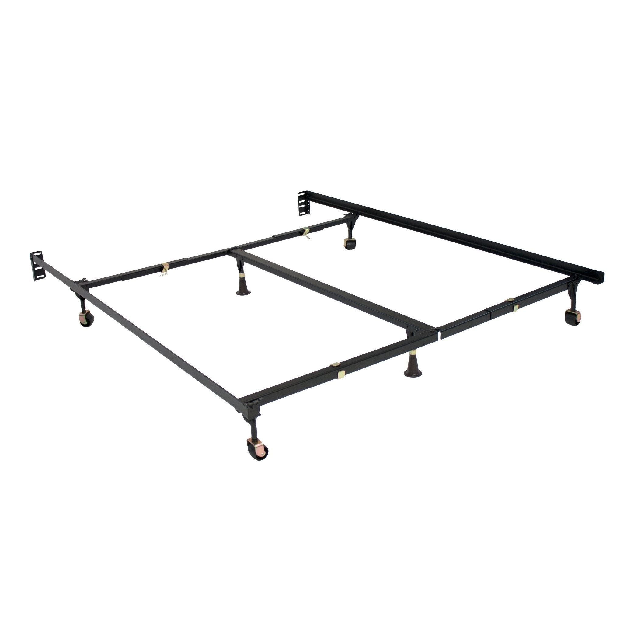 Metalcrest Clamp Style Bed Frame With 6 Legs Size Queen