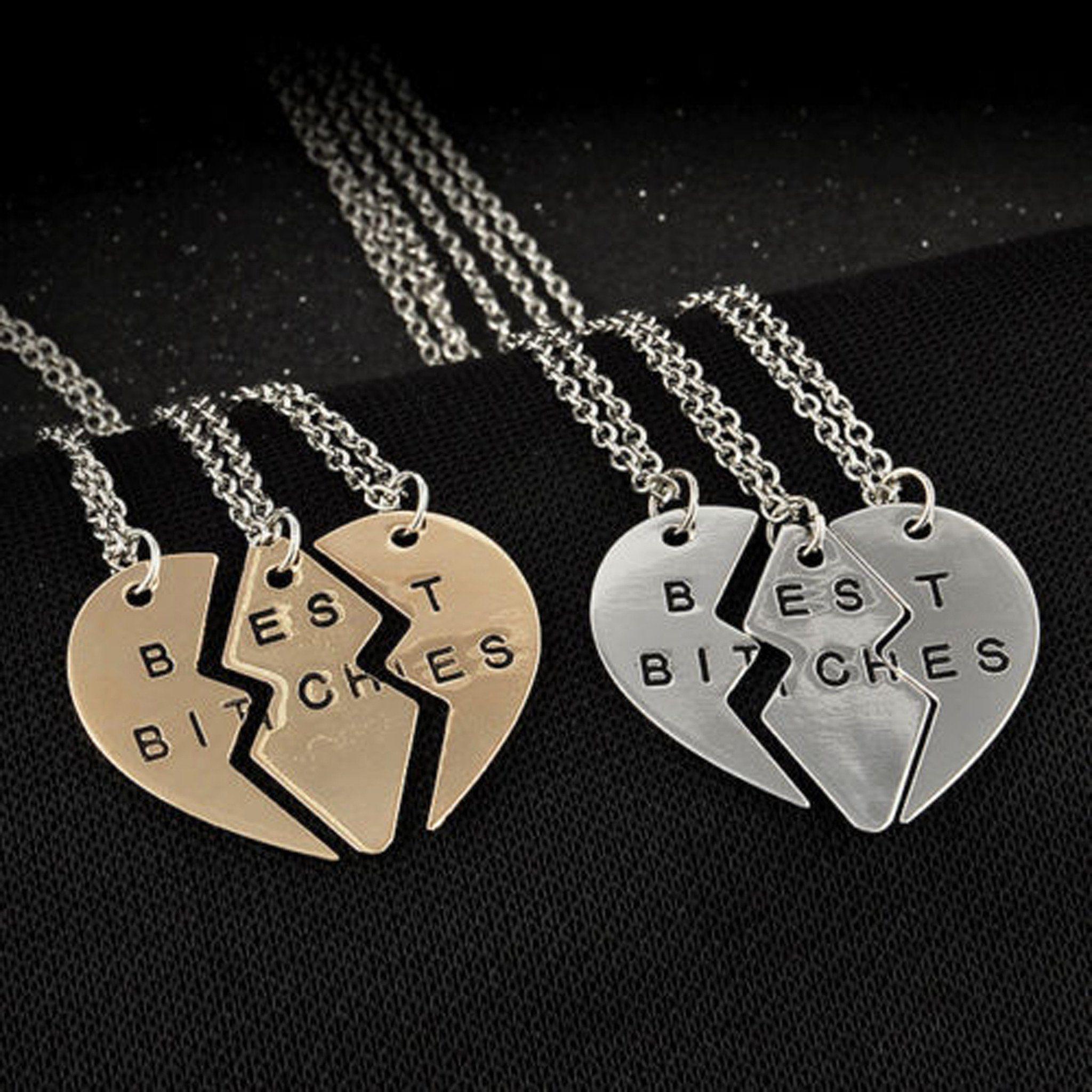 Lillian Best Friend Necklaces 3 Piece Best B S Friendship Necklace Friend Necklaces Best Friend Necklaces Friend Jewelry