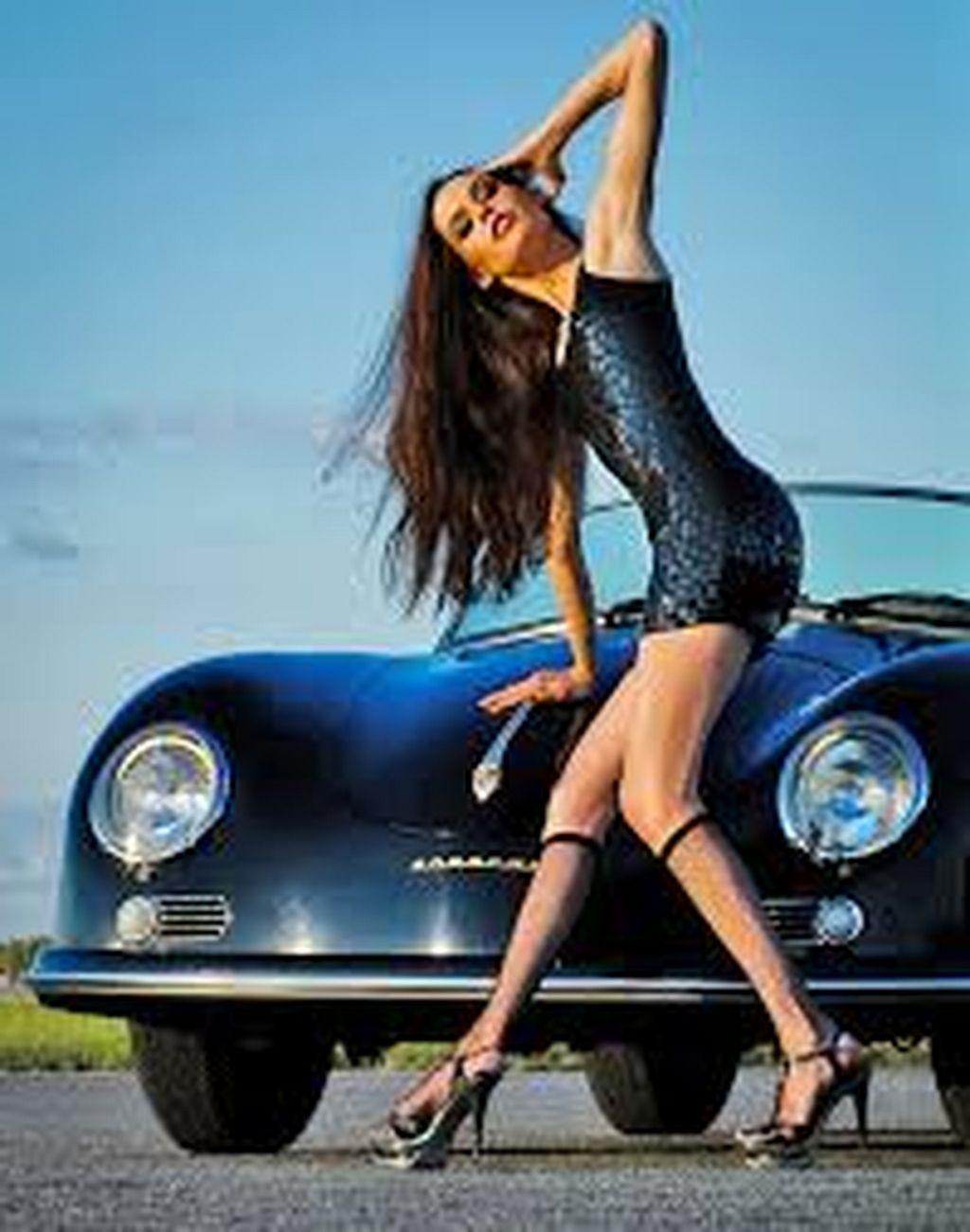 Classic Cars And Girls Woman Beautiful 60