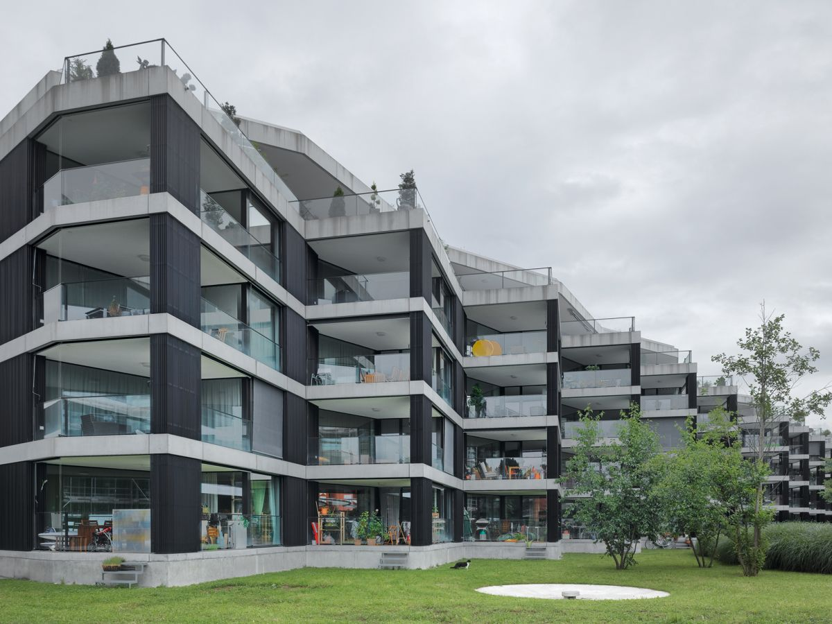 Maison Architecture Suisse Em2n Projects Housing Riedpark Zug Switzerland