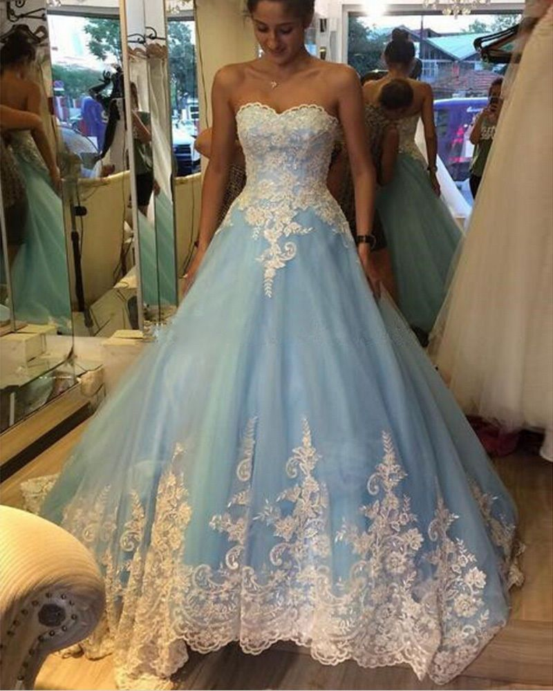 New sweetheart applique quinceanera dress formal prom ball pageant
