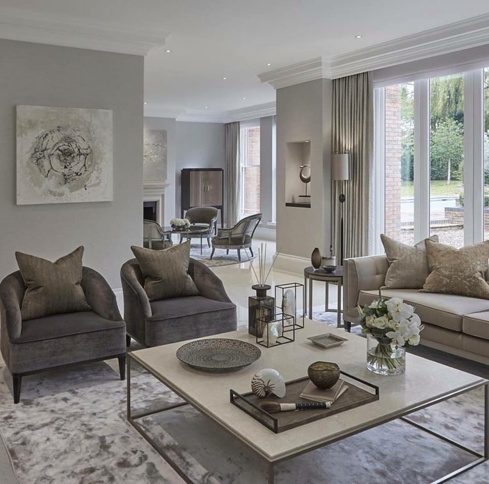 Living Room Designs Neutral Colors: Transitional Living Room Design Ideas
