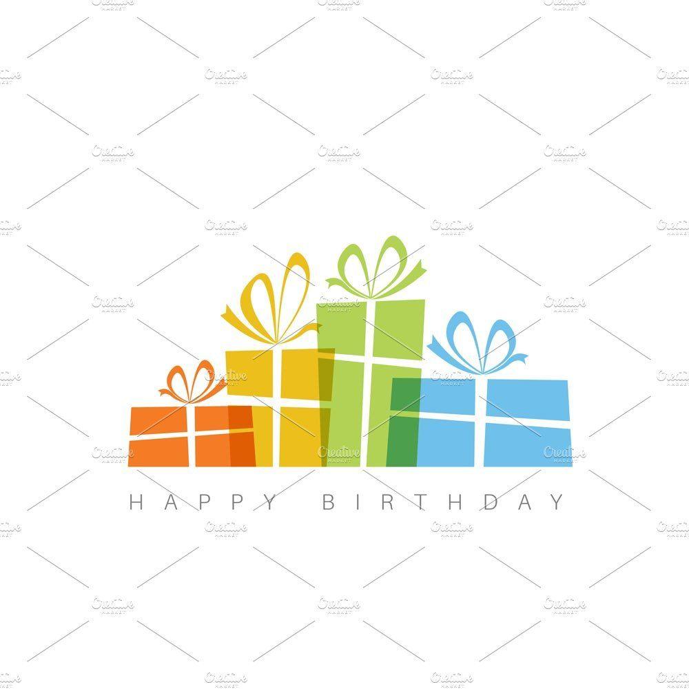 Minimalistic Happy Birthday Card Happy Birthday Cards Birthday Card Template Birthday Cards