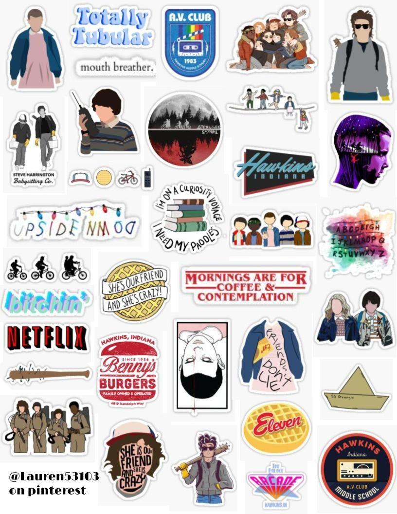 Aesthetic Vsco Stranger Thingsstickers Google Search Stranger Things Sticker Hydroflask Stickers Girl Stickers