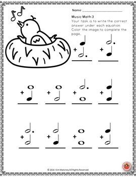 Music Math with a SPRING Theme!  24 worksheets aimed at reinforcing students' understanding and knowledge of note and rest values. #musiceducation