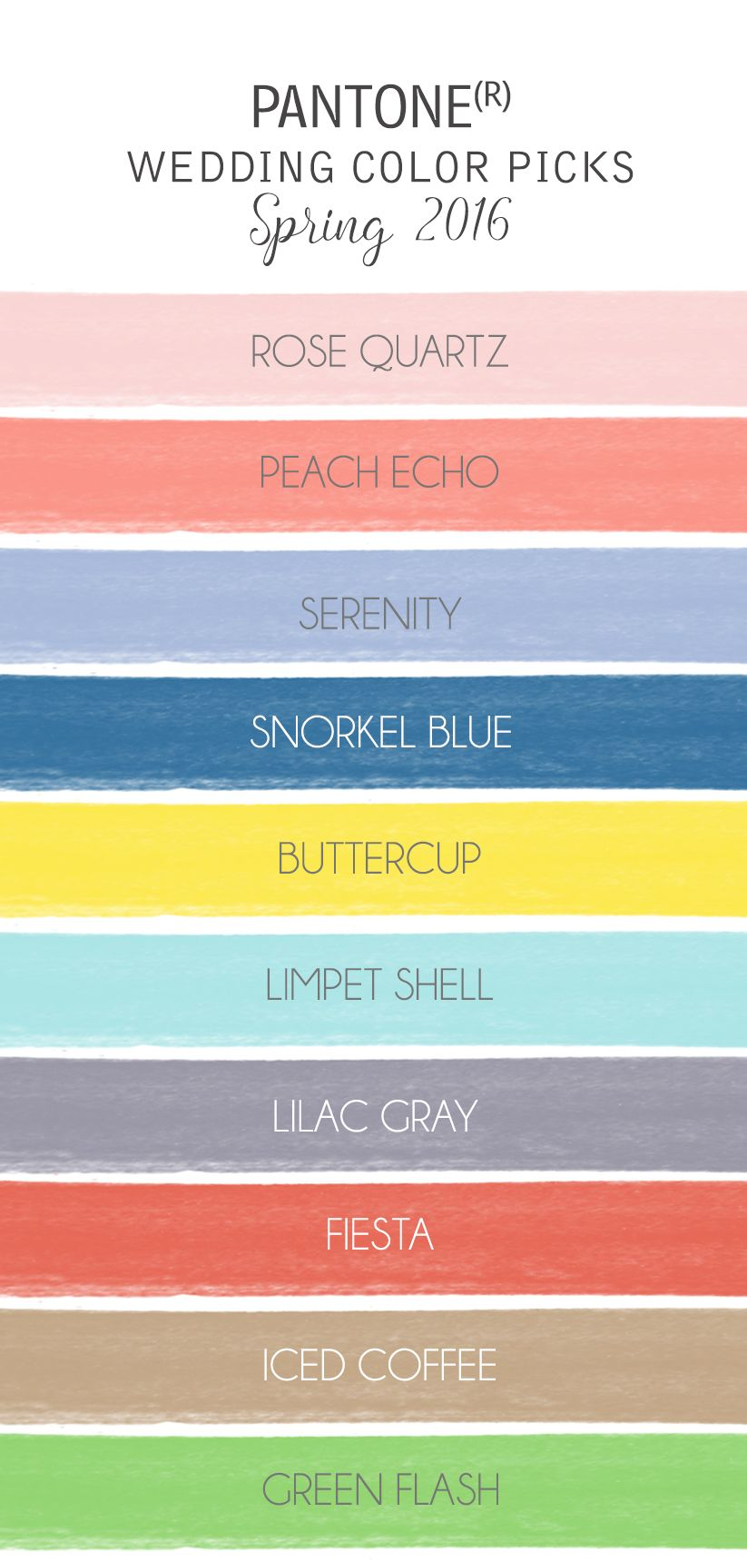 A Quick Guide To The Pantone Color Selections For 2016 Wedding Colors Spring Report