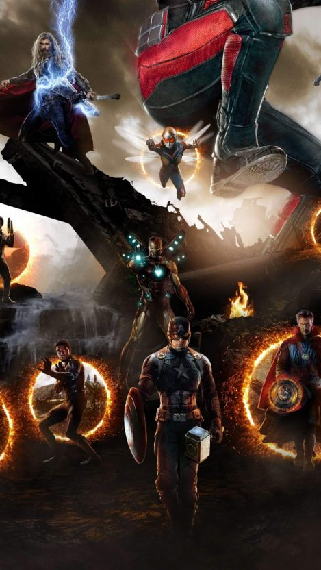 Endgame Final Battle Captain America With Hammer Iphone Wallpaper Free Getintopik Avengers Movies Avengers Wallpaper Marvel