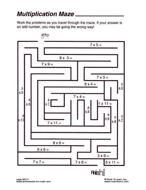 {Math Maze Worksheet – Math Maze Worksheets