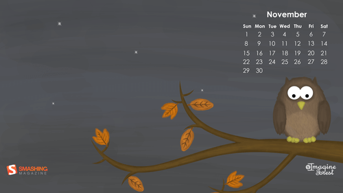 november calendar background