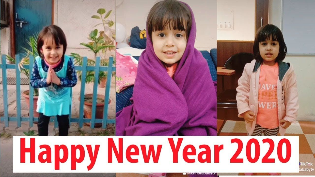 Happy New Year 2020 Tik Tok Cute Funny Baby Video Tik Tok Kids Viral In 2020 Cute Funny Baby Videos Cute Funny Babies Abc Song For Kids