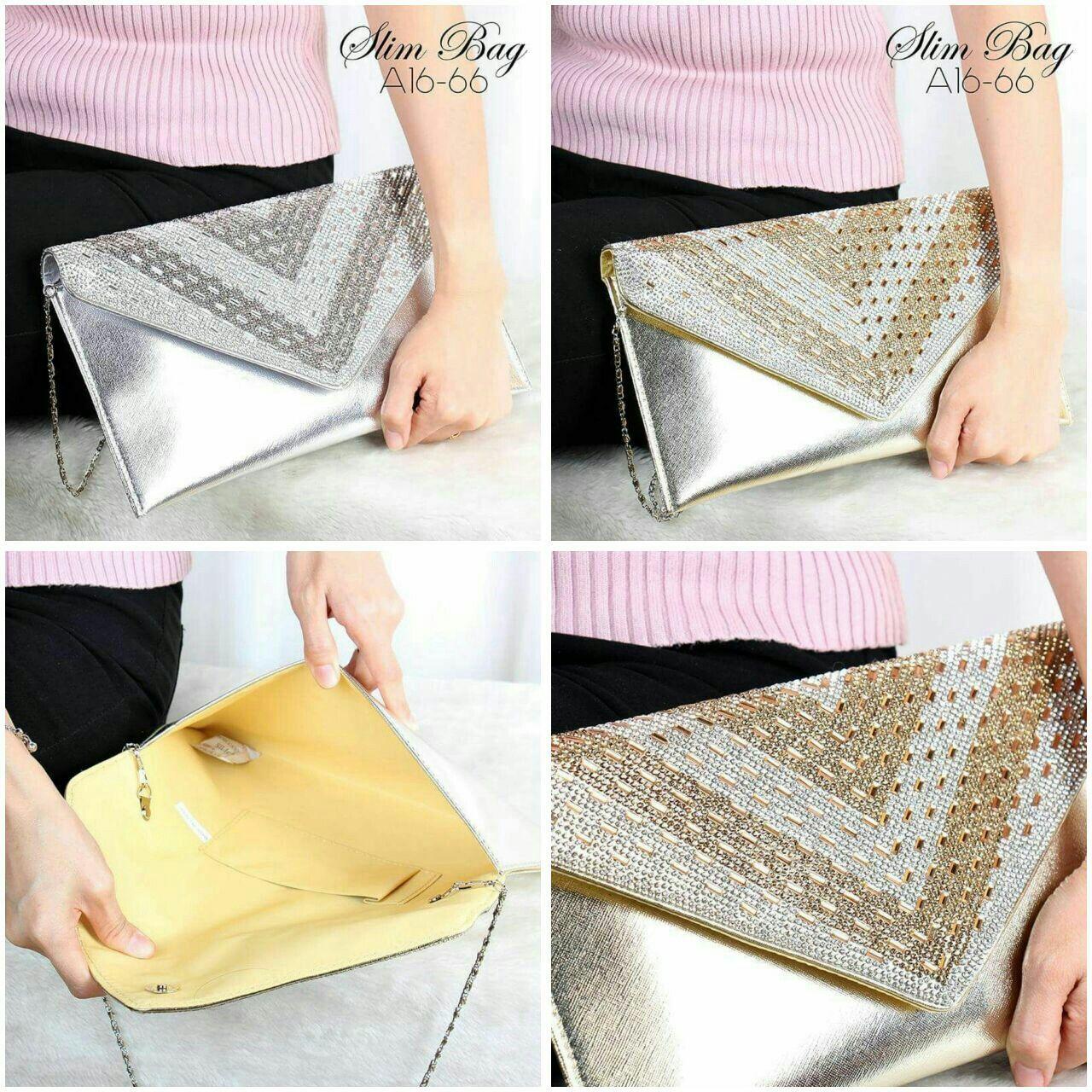 93b9e692d87 Clutch Party Bag Swarovsky A16-66  Leather Waterproof Quality Semi Ori  29×