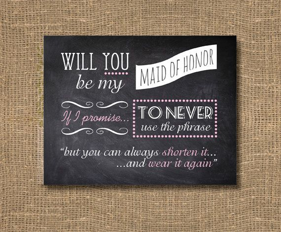 Chalkboard Will You Be My Bridesmaid Card | Will You Be My Maid of ...