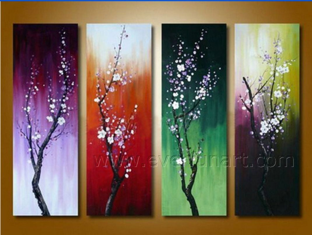 Beautiful Canvas Art Seasons Flower Oil Painting On Canvas