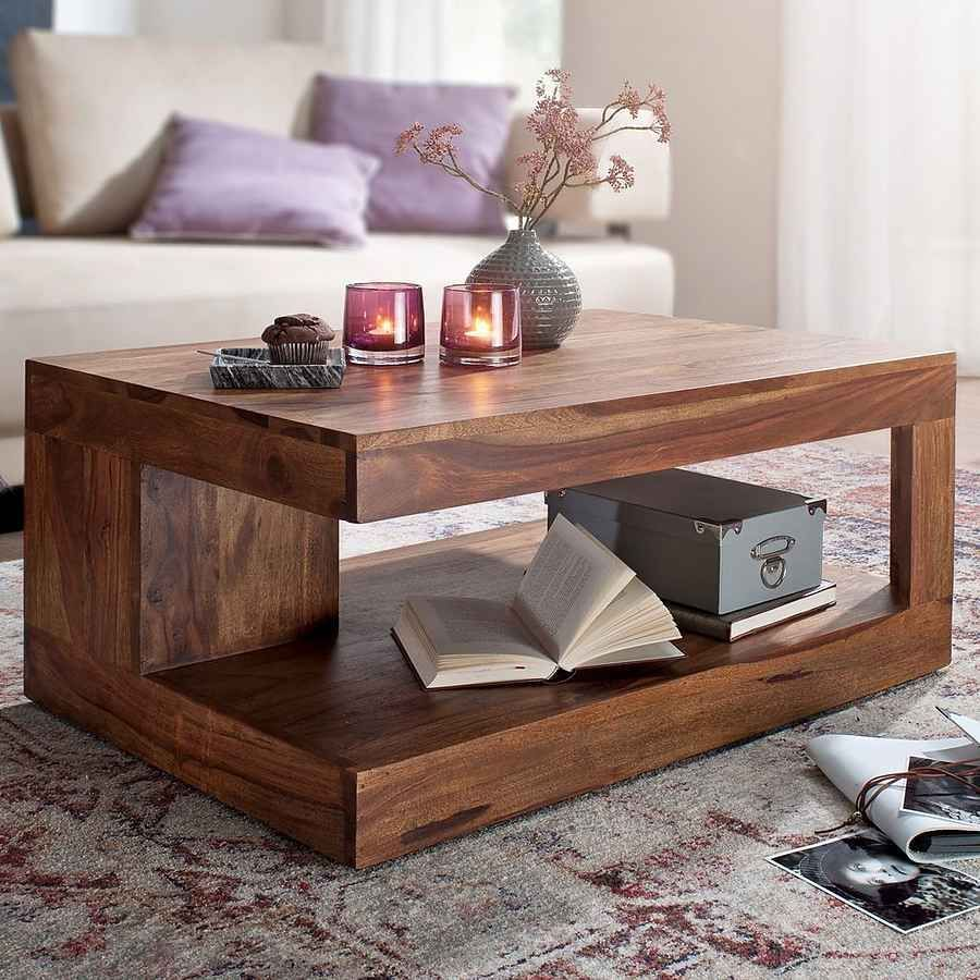 Wohnling Couchtisch Wohnling Couchtisch »wl6.229«, Mumbai Sheesham Massiv-holz 90 X 60 X 40 Cm Wohnzimmer-tisch Design Dunk… In 2020 | Solid Coffee Table, Coffee Table, Solid Wood Coffee Table