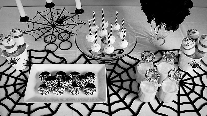 Black White Halloween Party Party Contributor Dollar Store Halloween Decorations Modern Halloween Modern Halloween Decor