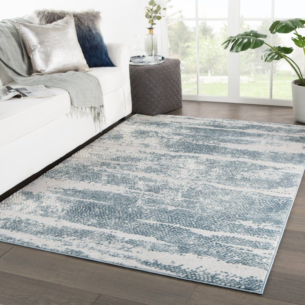 Montclair Abstract Silver Blue Area Rug 7 10 X 10 2 7 10 X 10 2 Silver Blue Juniper Home In 2020 Area Rugs Rugs Modern Area Rugs