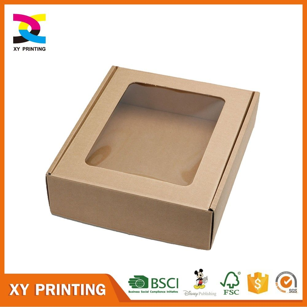 Brown Craft Kraft Paper Packaging Gift Box With Clear Pvc Window Find Complete Details About Brown Craft Kraft Paper Packaging Toy Packaging Paper Packaging