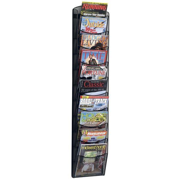 Onyx Mesh Magazine Rack 10 Pockets Safco Magazine Display Rack Magazine Rack