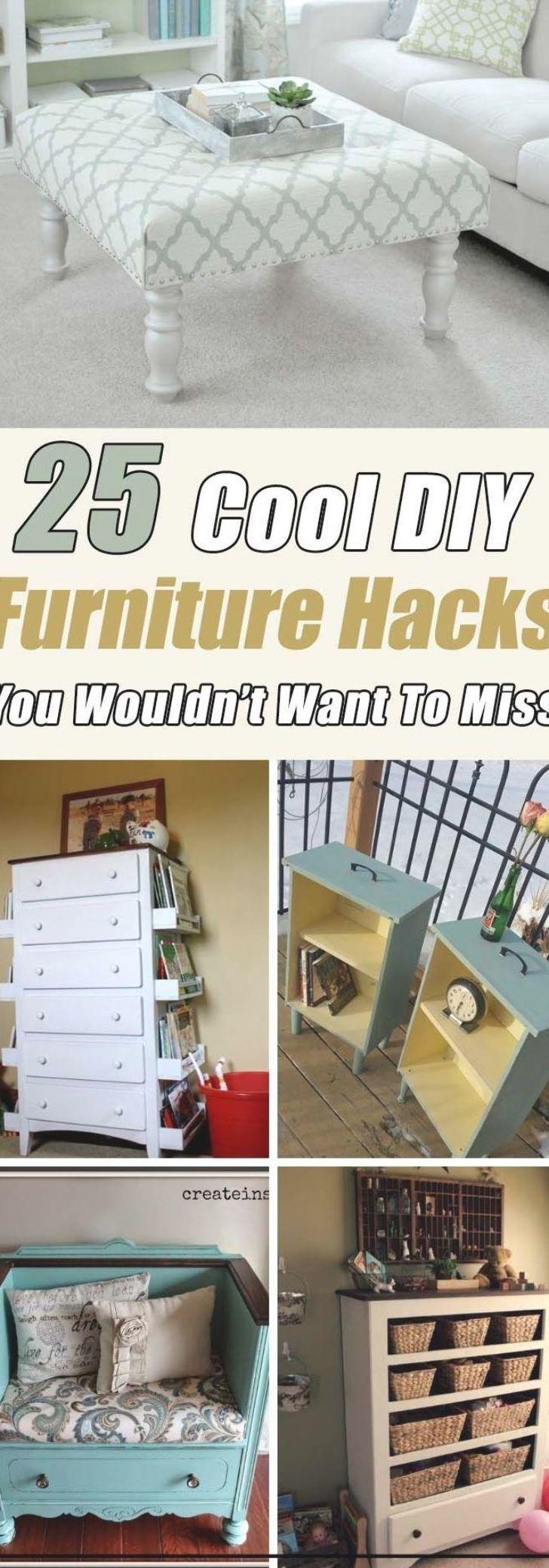 Fantastic Furniture Hacks, Makeover and Repurposed Items #diy #furniture #makeover #repurpose #decorhomeideas