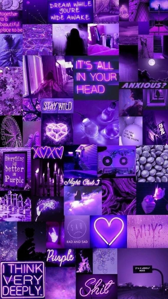 Purple Aesthetic wall photo collage,purple vibe wall pictures,purple photo collage,purple collage,purple aesthetic,purple vibes