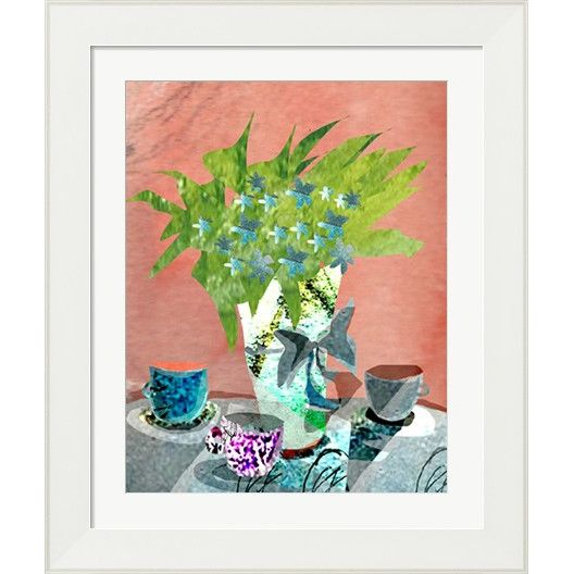 Floral Still Life By Holly Mcgee Framed Painting Print Painting Prints Flower Printable Painting