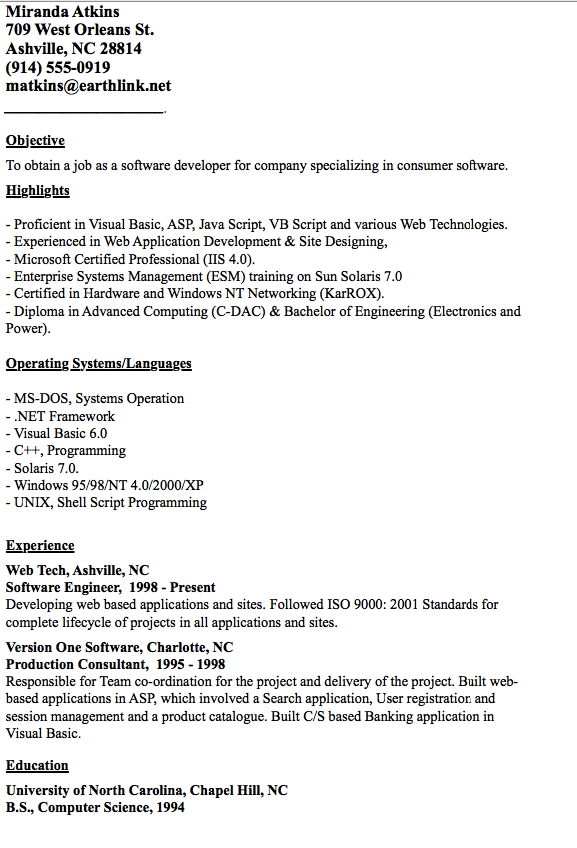 Developer Resume Examples Example Of Developer Resume  Httpresumesdesignexampleof
