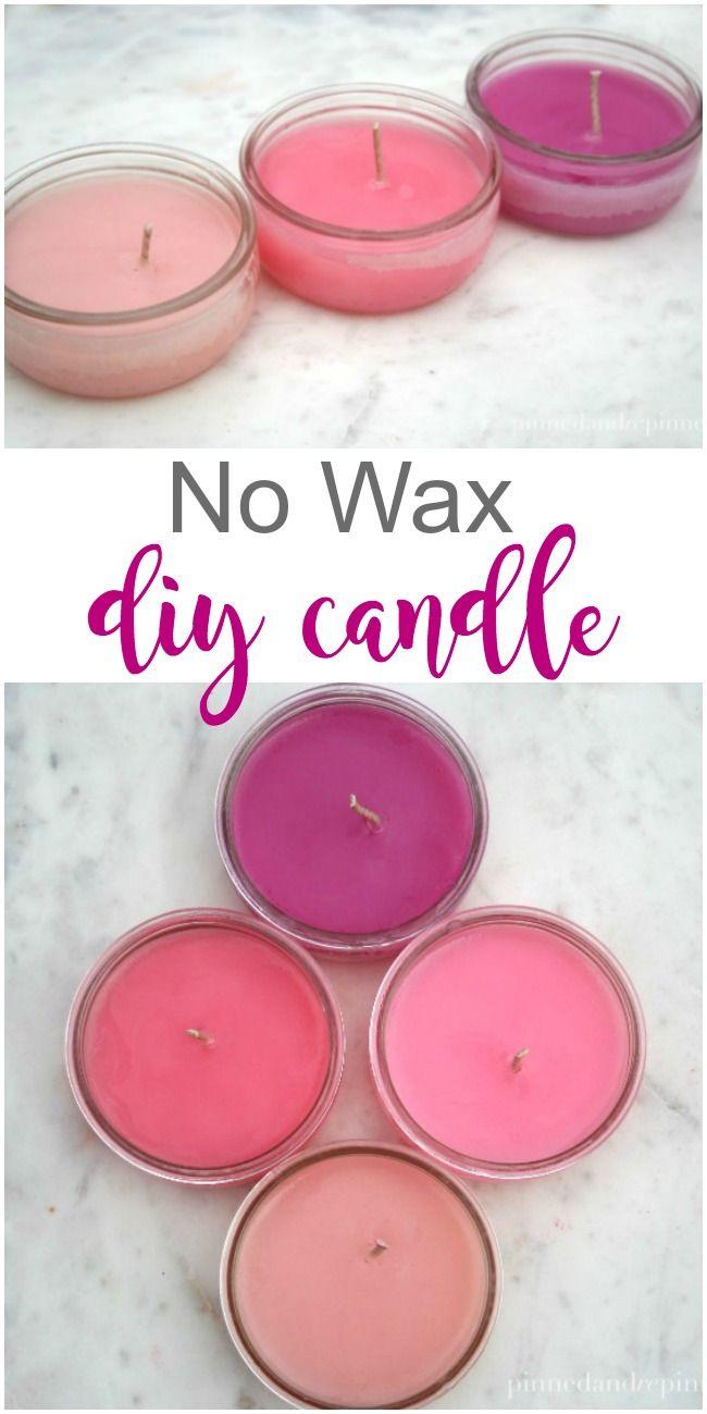 No Wax DIY Candle via @pinnedandrepinn