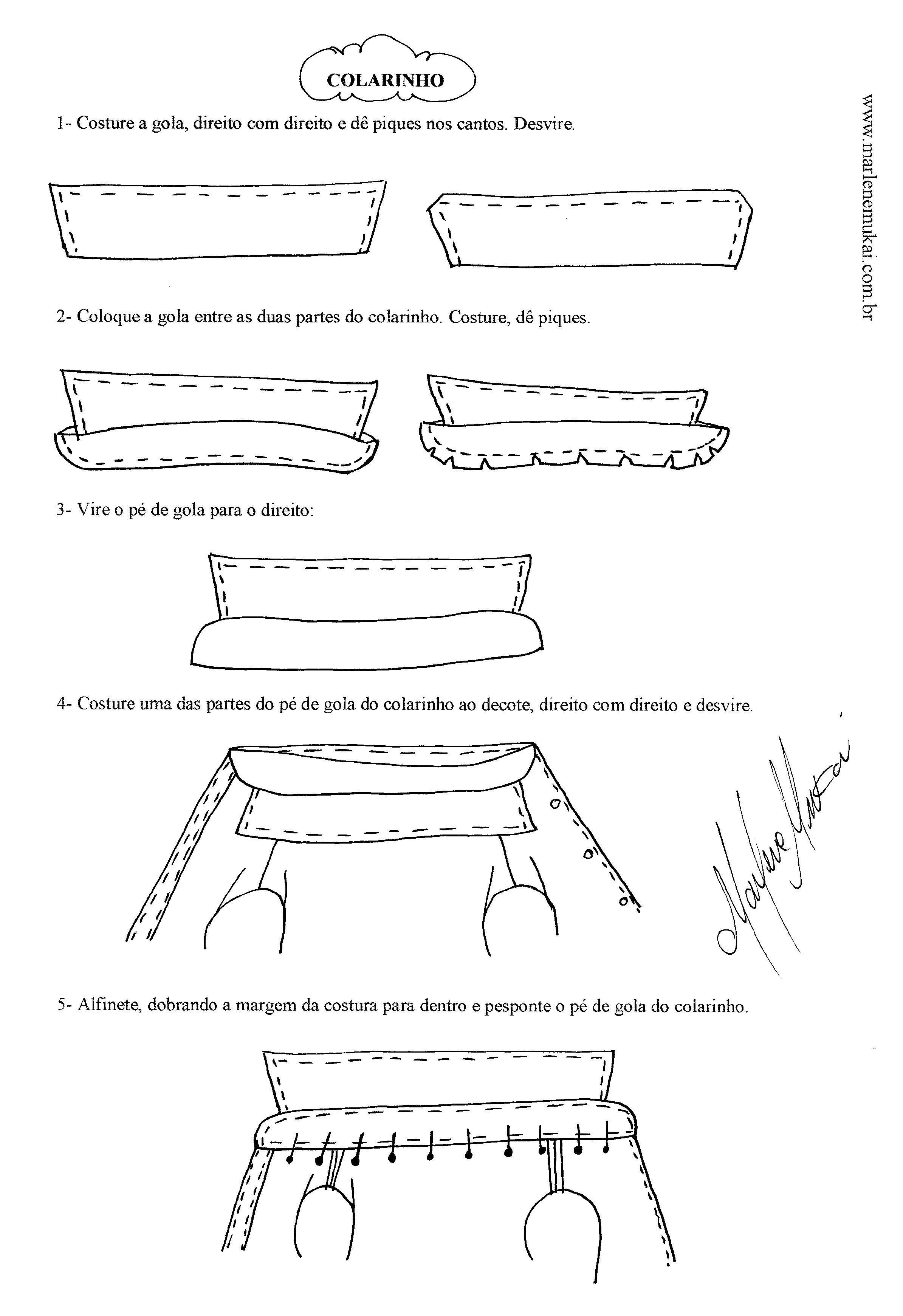 Como colocar Gola | tutoriales y tips de costuras | Pinterest ...