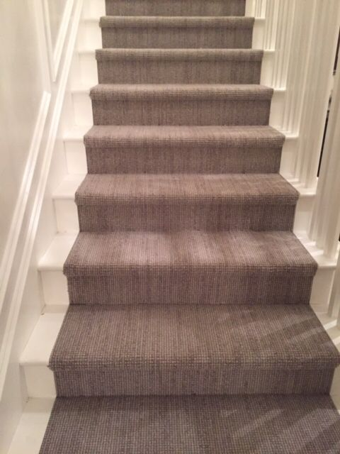 Fabrica Wool Carpet Installed On Stairs