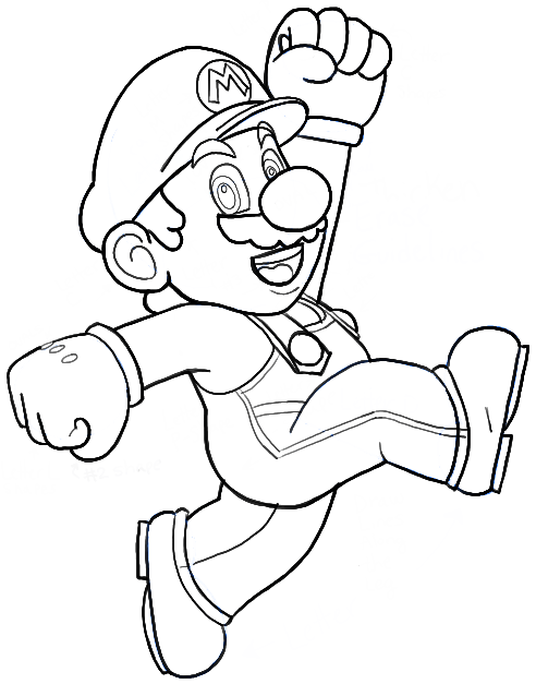 How to Draw Mario from Nintendo Super Mario Bros Drawing