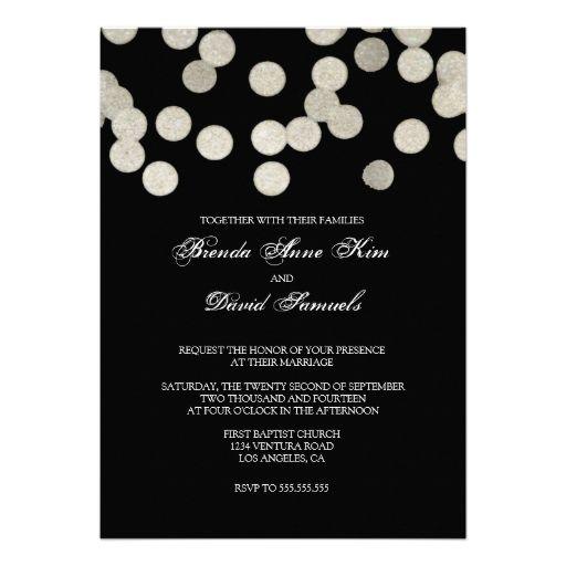 Silver Glitter Wedding Invitation
