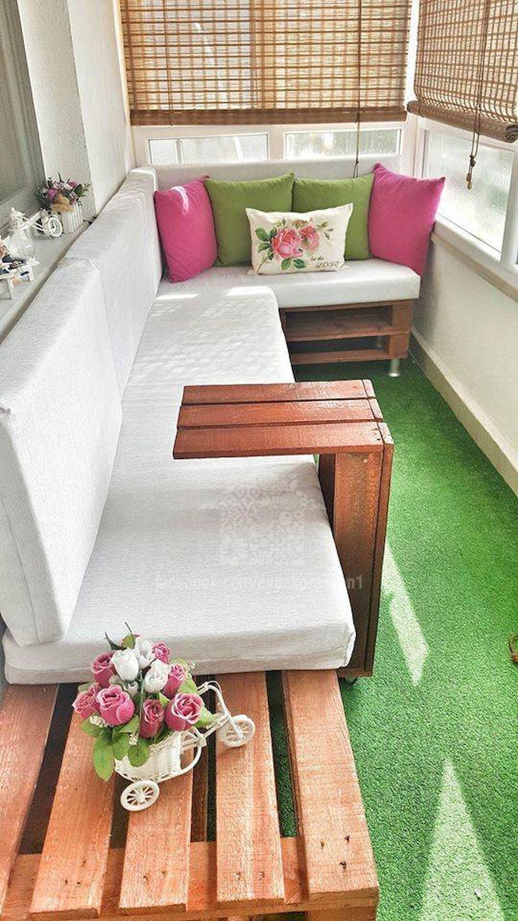 80 Beautiful And Cozy Apartment Balcony Decor Ideas Balcones  # Muebles Oasis Caseros