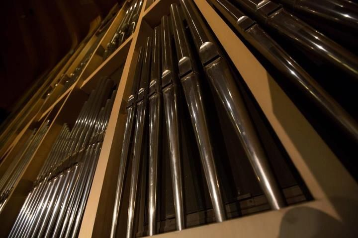 Close up of the Sydney Opera House Grand Organ. (With