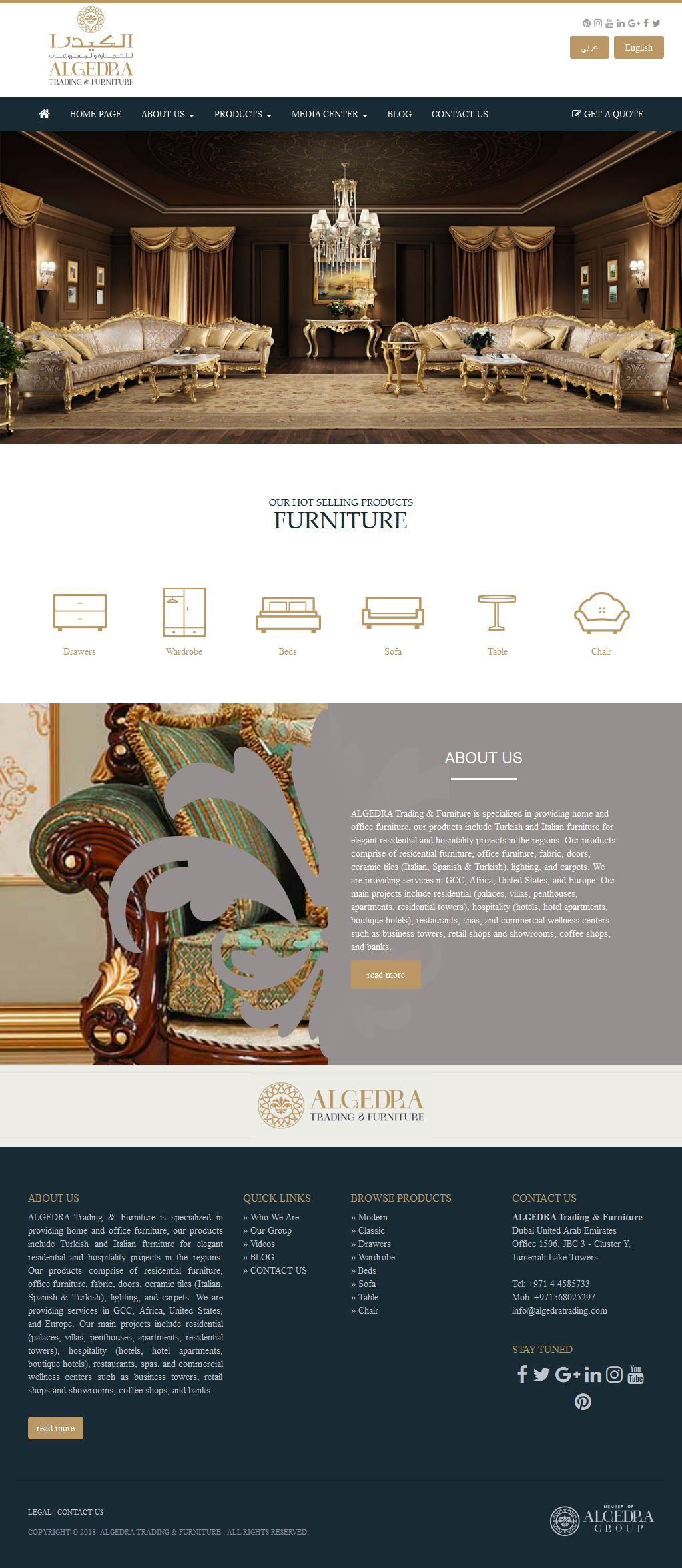 Algedra Trading Furniture Company Jumeirah Business Centre