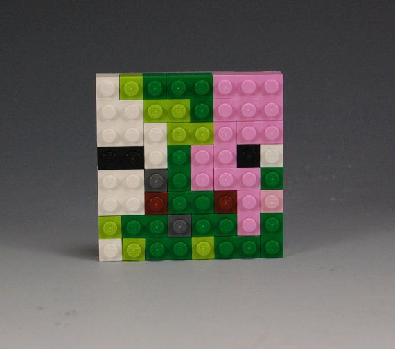 Lego Minecraft Zombie Pigman head by BrickBum on Etsy ...