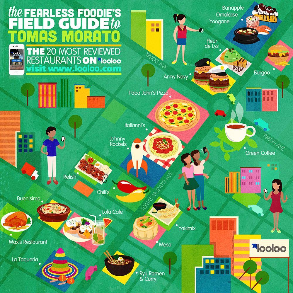 Map of Tomas Morato Quezon City Restaurants  Illustrated Maps