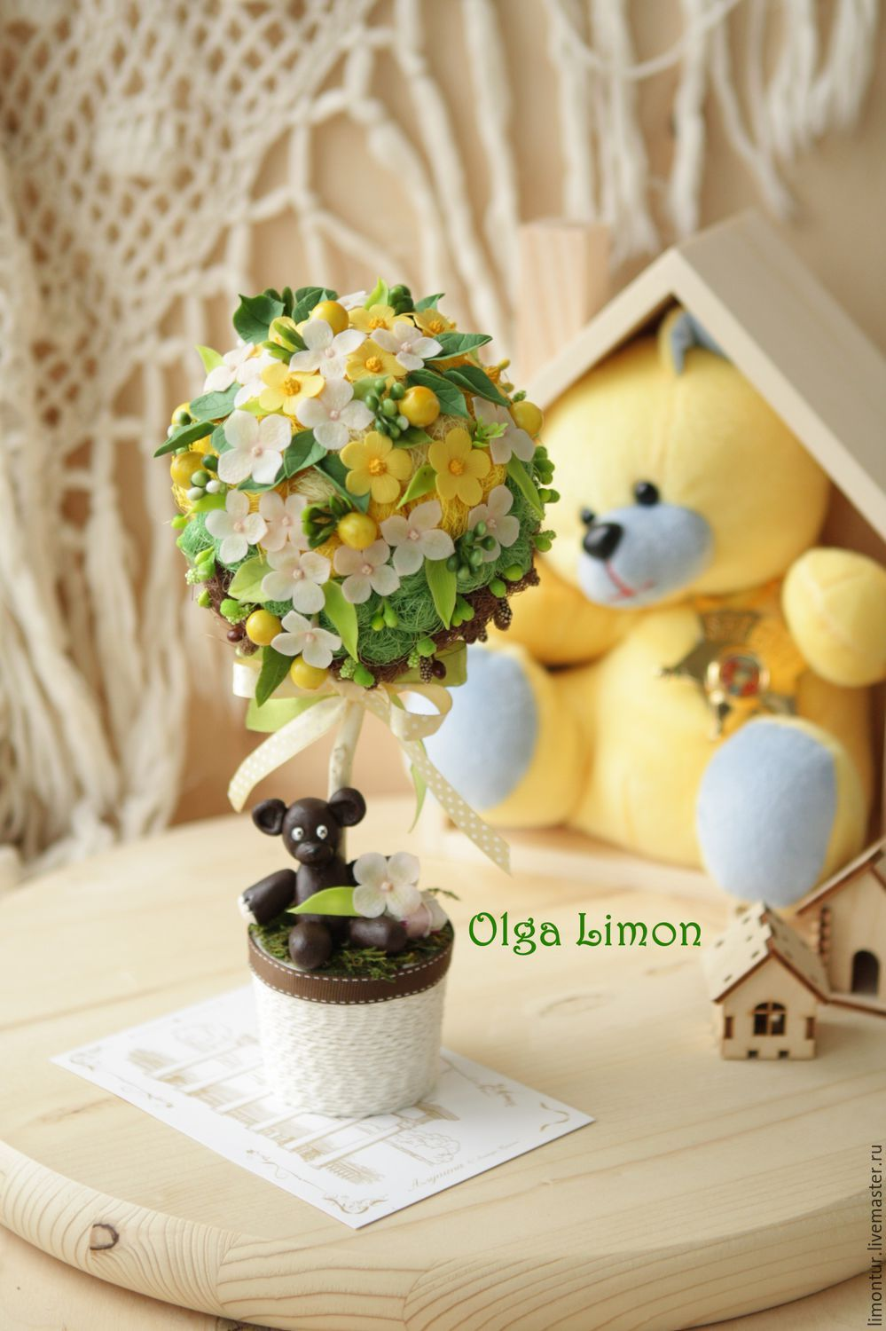 "Buy Topiary ""Bear Mr. Bean"" - topiary flowers, topiary, tree, Tree of happiness"